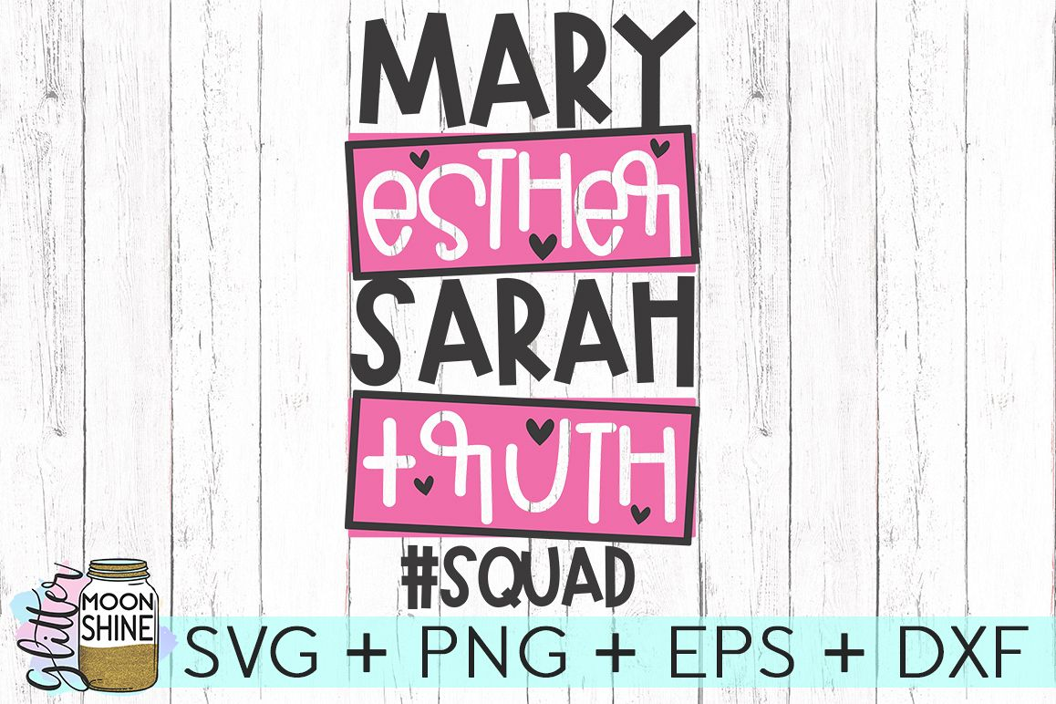 Mary Esther Sarah Ruth SVG DXF PNG EPS Cutting Files example image 1
