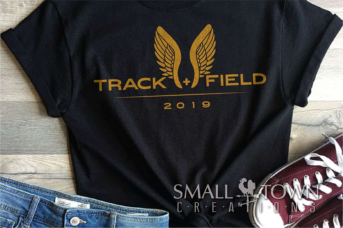 Track and Field, Team sport, Track logo, PRINT, CUT, DESIGN example image 1