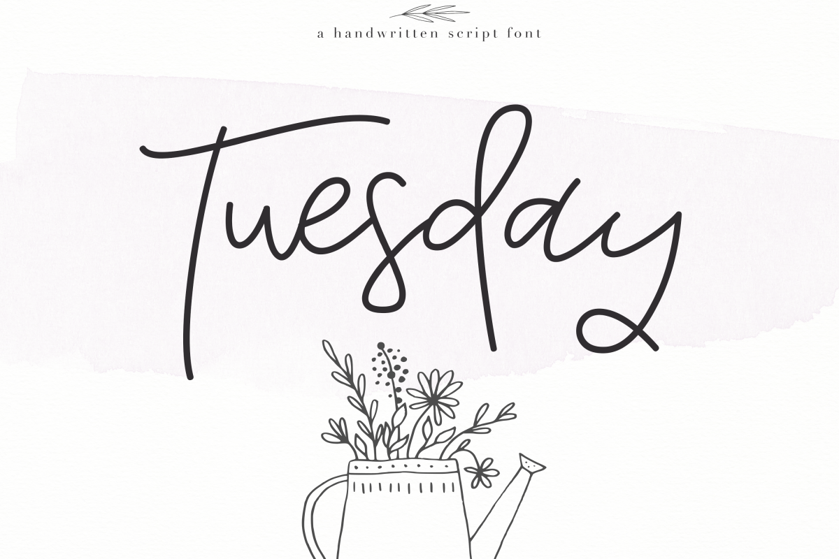 Tuesday - Handwritten Script Font example image 1