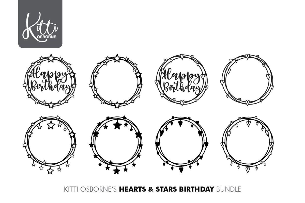 Hearts & Stars Paper cut Bundle example image 1