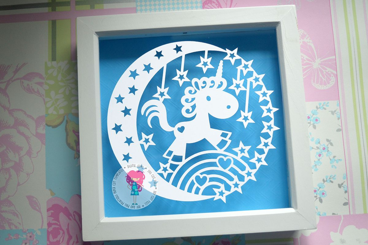 Unicorn Paper Cut SVG / DXF / EPS Files example image 1