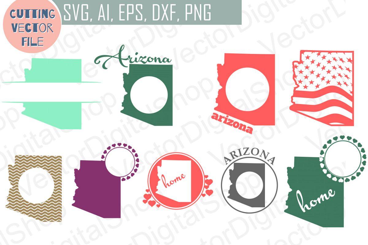 9 Arizona State monograms - cutting files, SVG, PNG, JPG, EPS, AI, DXF example image 1