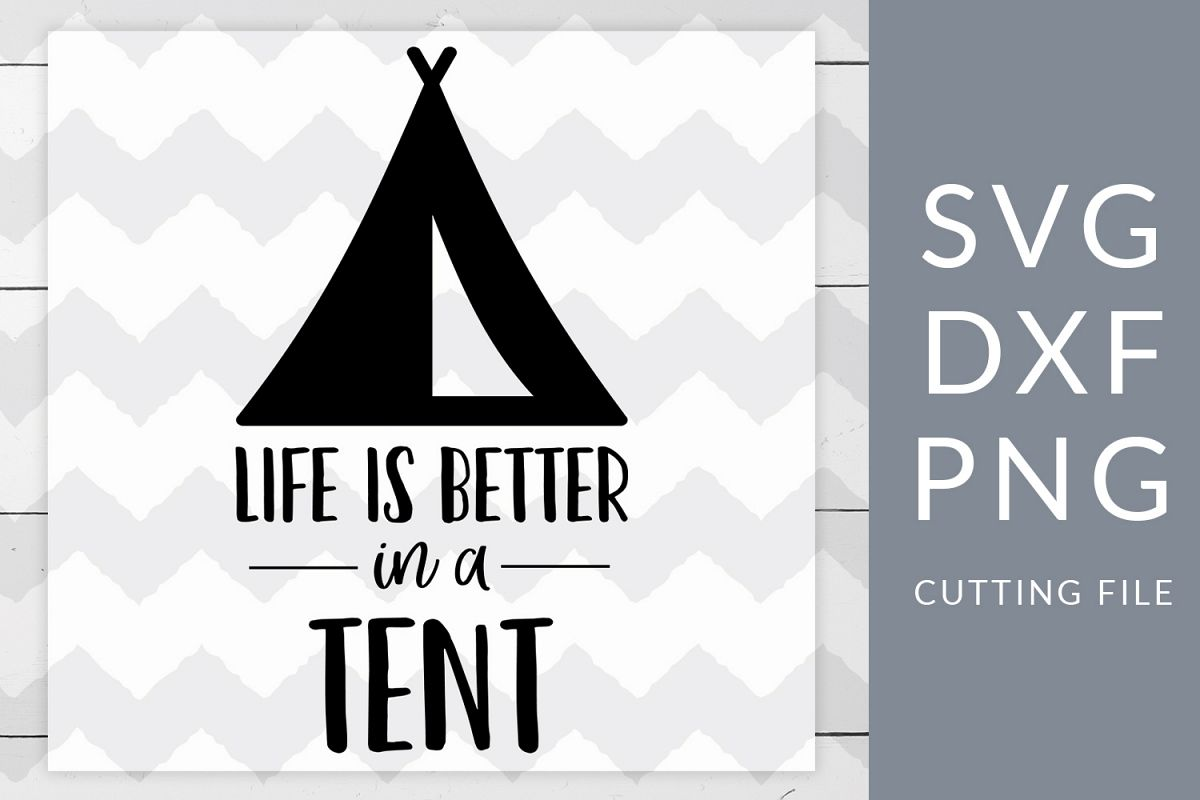 Camping Tent SVG, DXF, PNG, Cut File example image 1