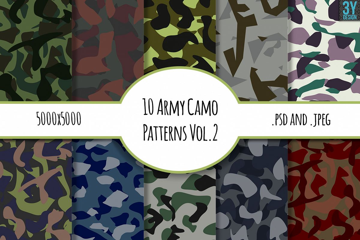 10 Army Camo Patterns Vol.2 example image 1