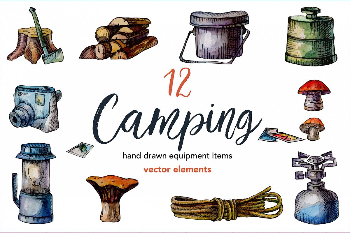 12 Travel equipment illustrations example image 1