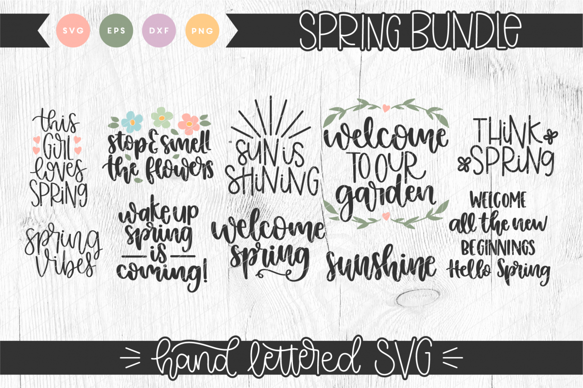 Hand Lettered Spring Bundle example image 1