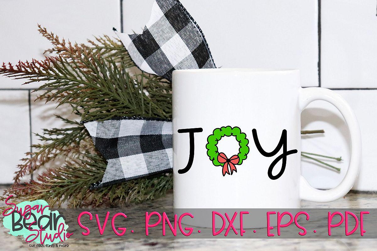 Joy Christmas Wreath - A Christmas SVG example image 1