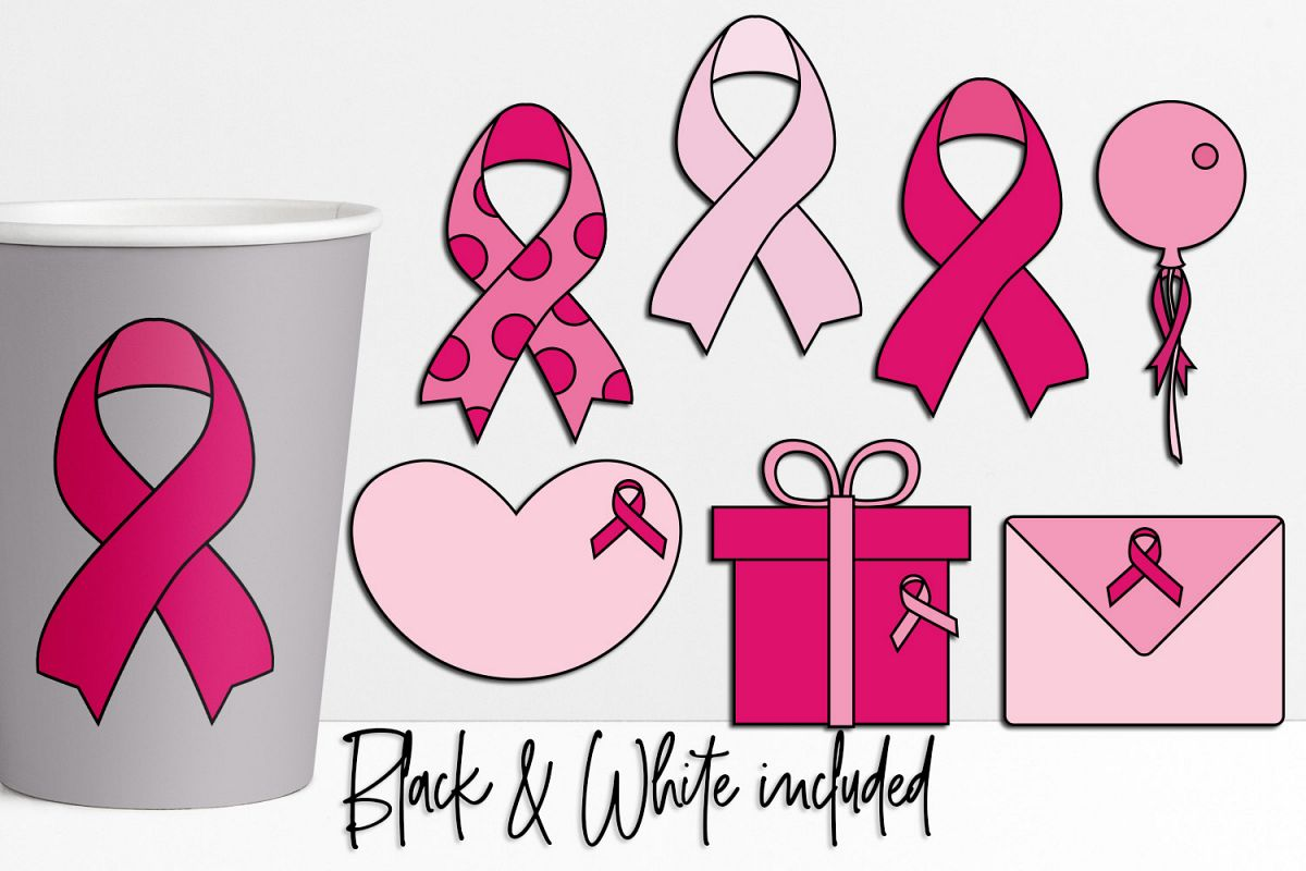 Pink Ribbon Day Illustrations and Graphics example image 1