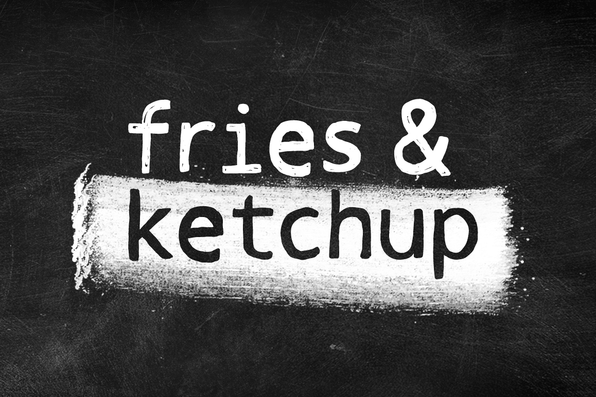 Fries & Ketchup Hand Drawn Font example image 1