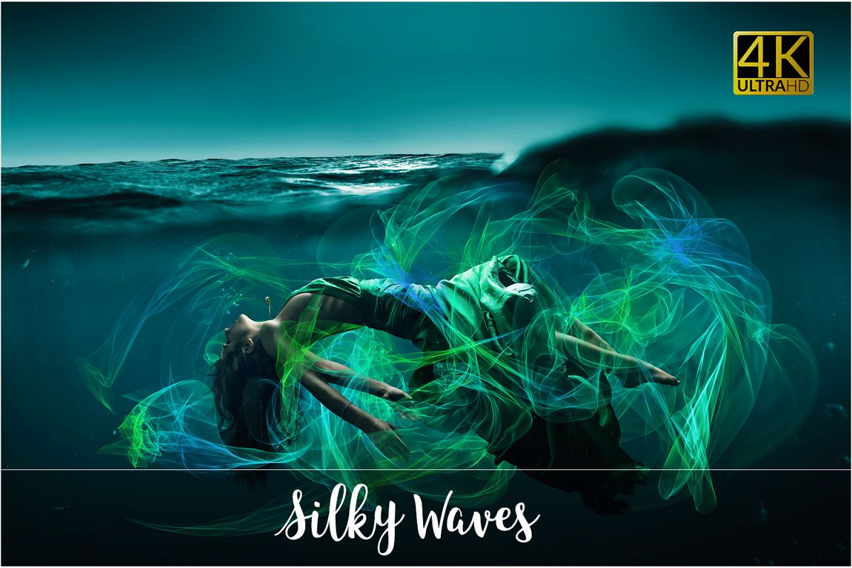 4K Silky Waves Overlays example image 1