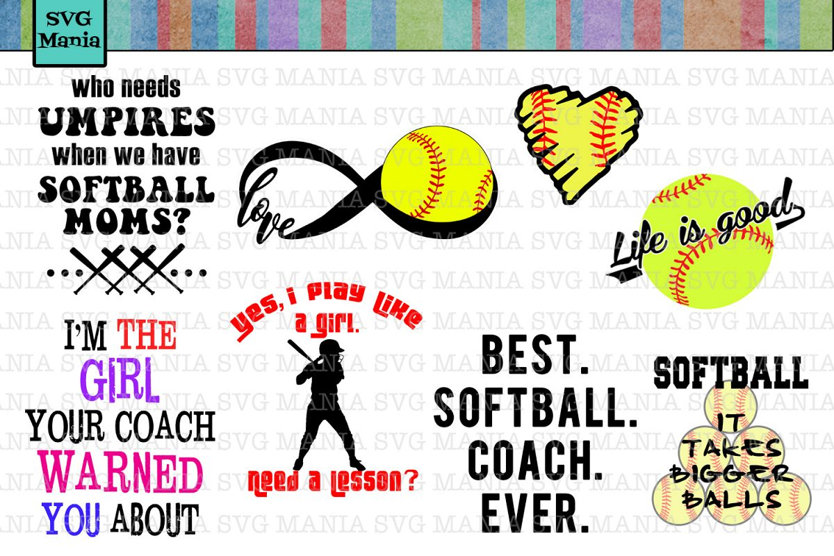 Svg Bundle Softball Softball Mom Svg File Bundle Softball Mom