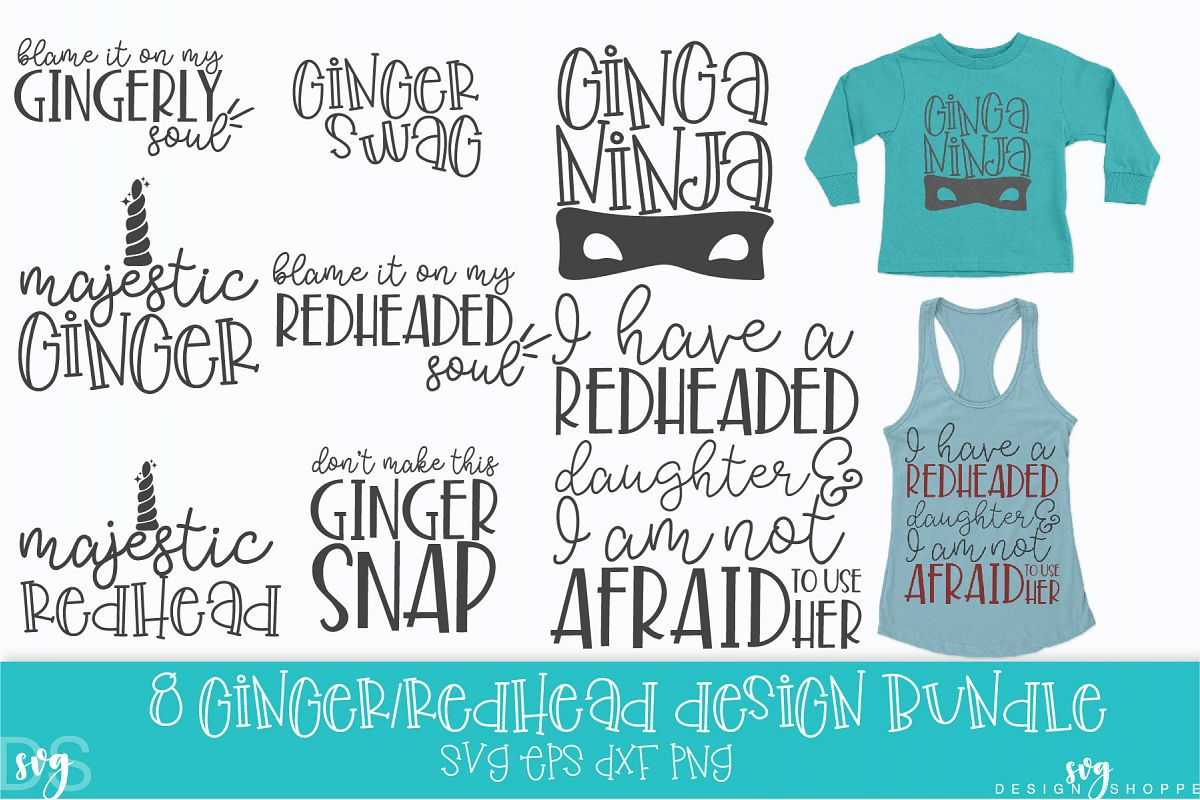 Ginger, Redhead, SVG, PNG, DXF, EPS example image 1