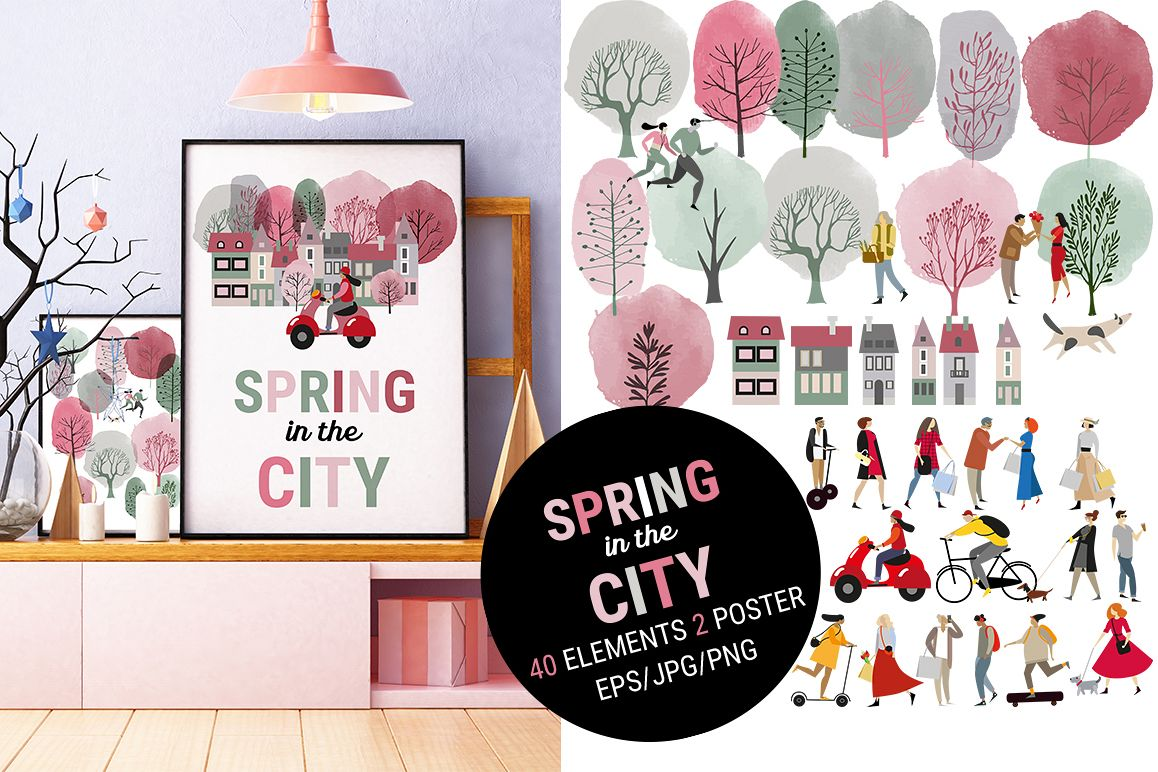 Spring in the city example image 1