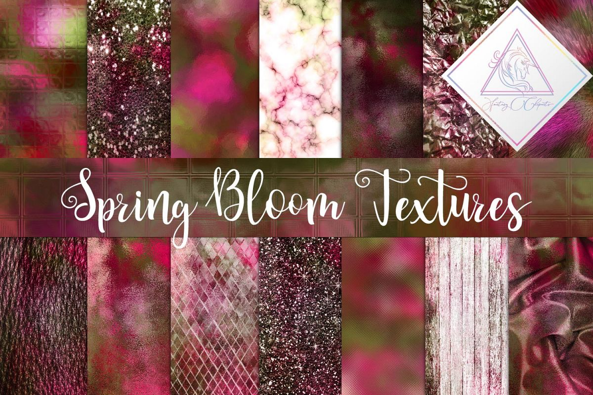 Spring Bloom Textures Digital Paper example image 1
