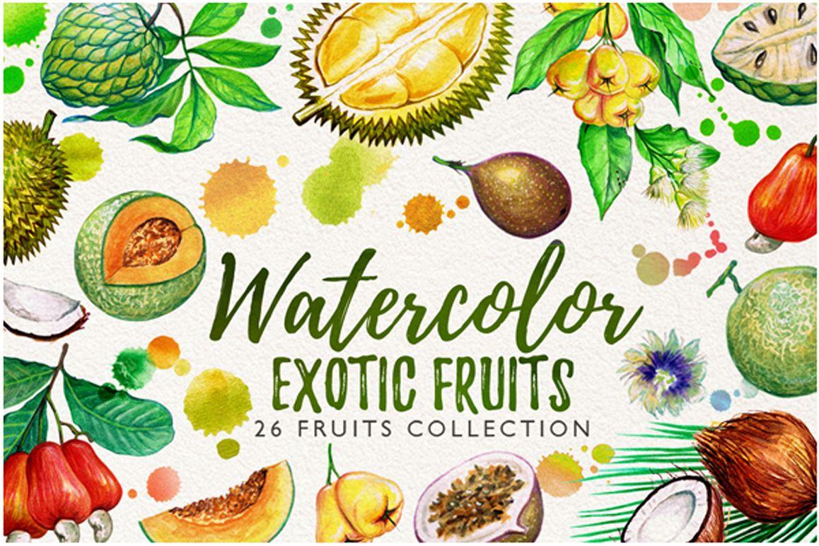 watercolor fruits vol. 6 example image 1