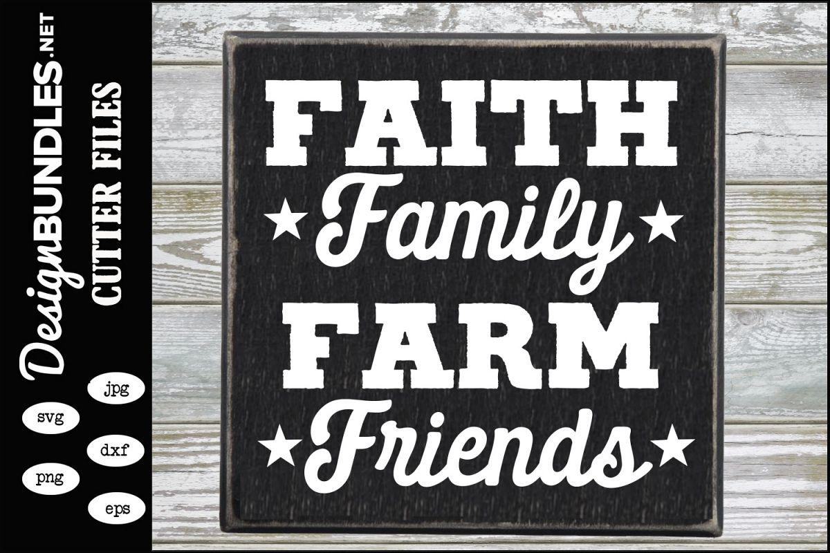 Faith Family Farm Friends SVG example image 1