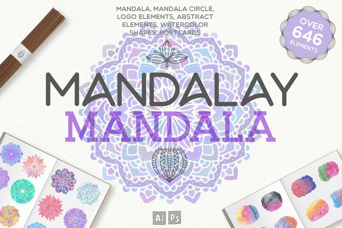 Mandala - fun way to color and decor (plus freebie)