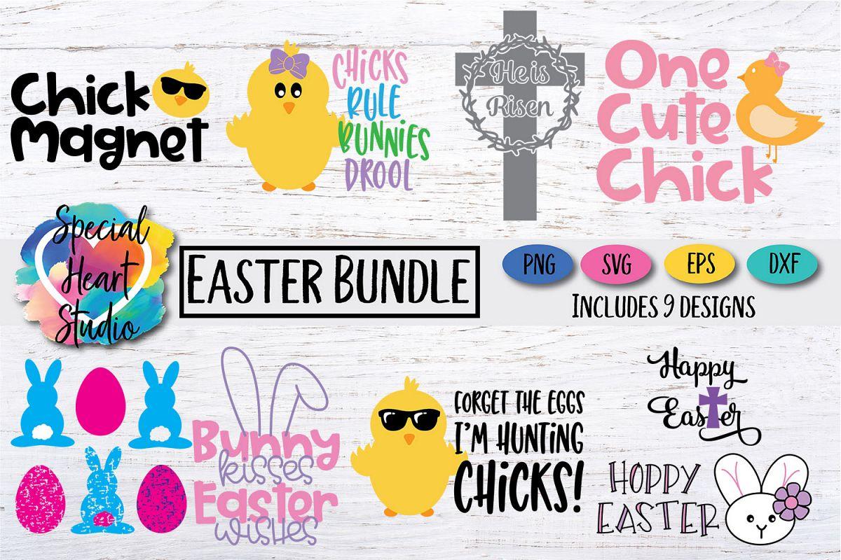 Easter Bundle - A bundle of Easter cut SVG files example image 1