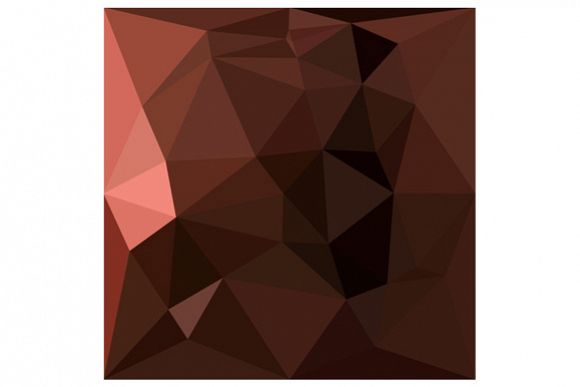 Saddle Brown Abstract Low Polygon Background example image 1