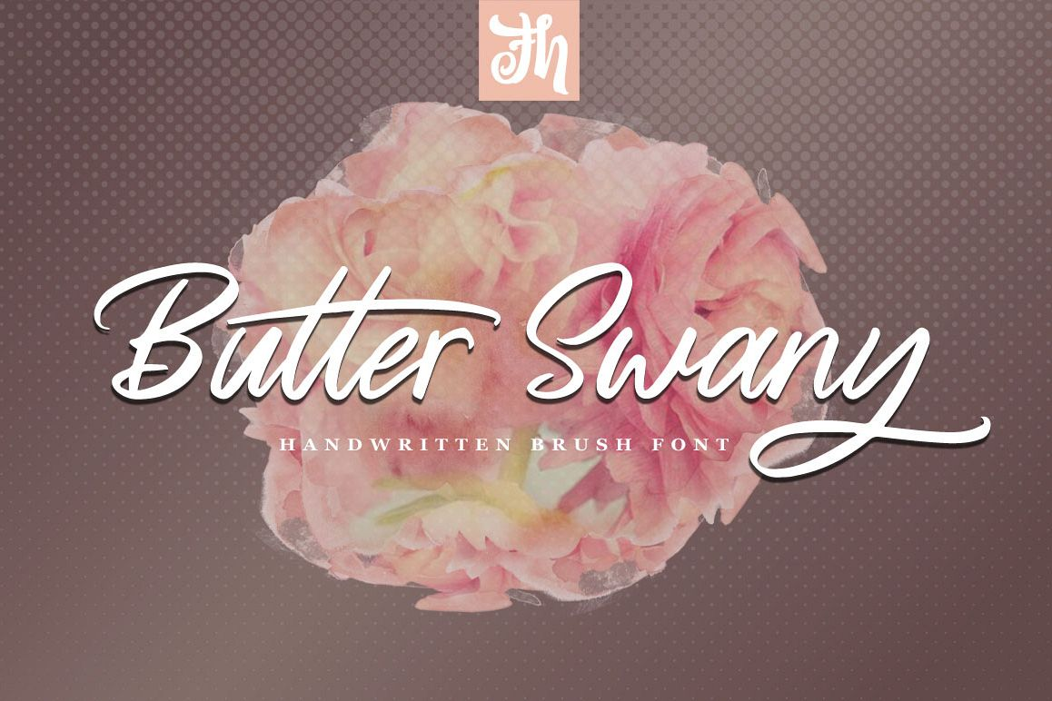 Butter Swany - Handwritten Font example image 1