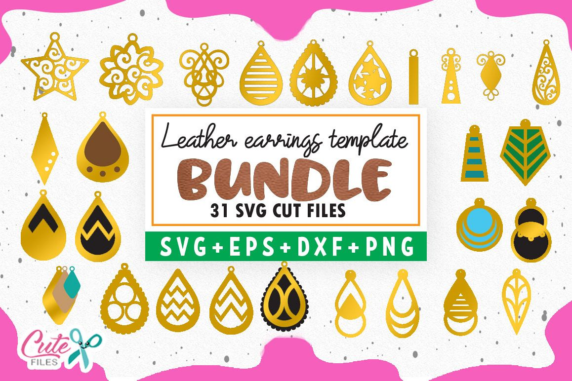 Bundle Earrings templante svg for crafters example image 1