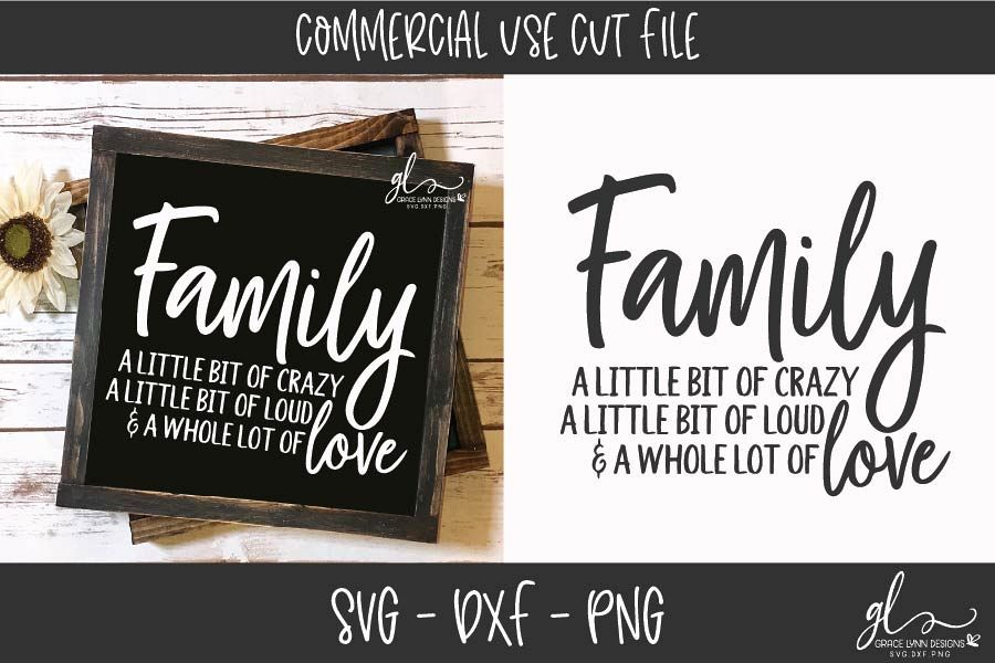 Family Sign - Digital Cut File - SVG, DXF & PNG example image 1