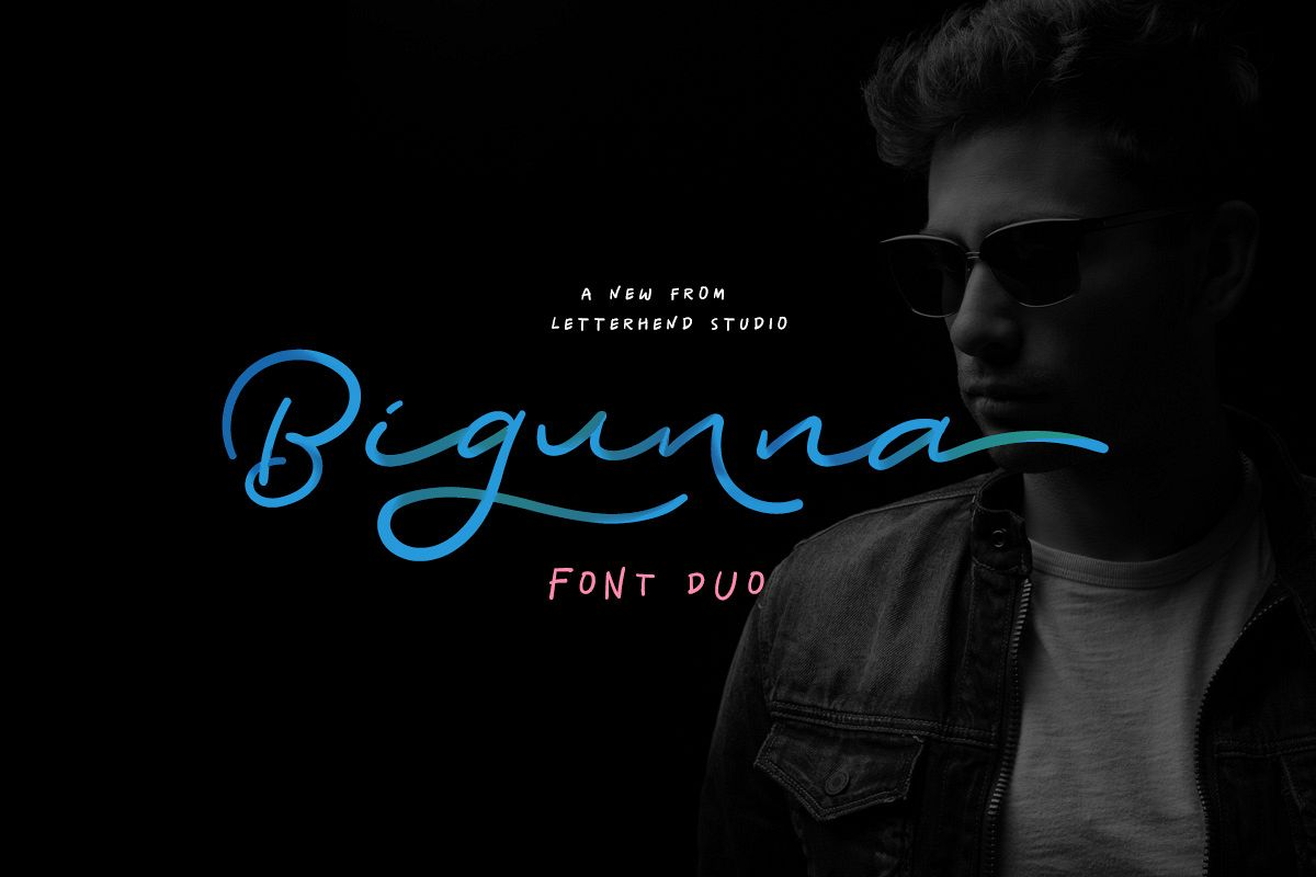 Bigunna - Font Duo example image 1