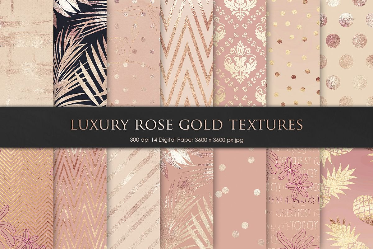 Rose, Gold, Texture and Backgrounds example image 1