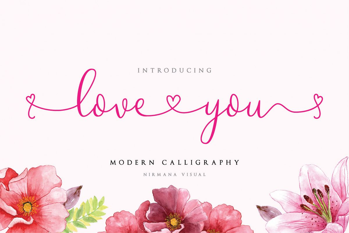 Loveyou - Romantic Font example image 1