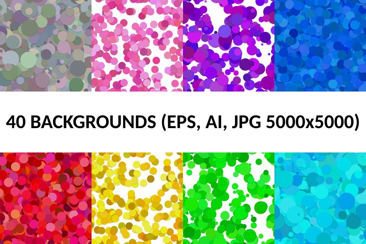 40 Seamless Circle Backgrounds (AI, EPS, JPG 5000x5000) example image 1