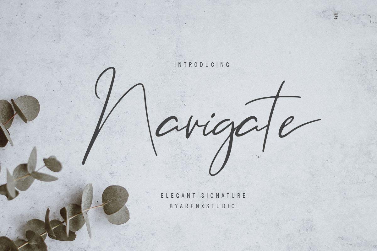 Navigate Elegant Signature example image 1