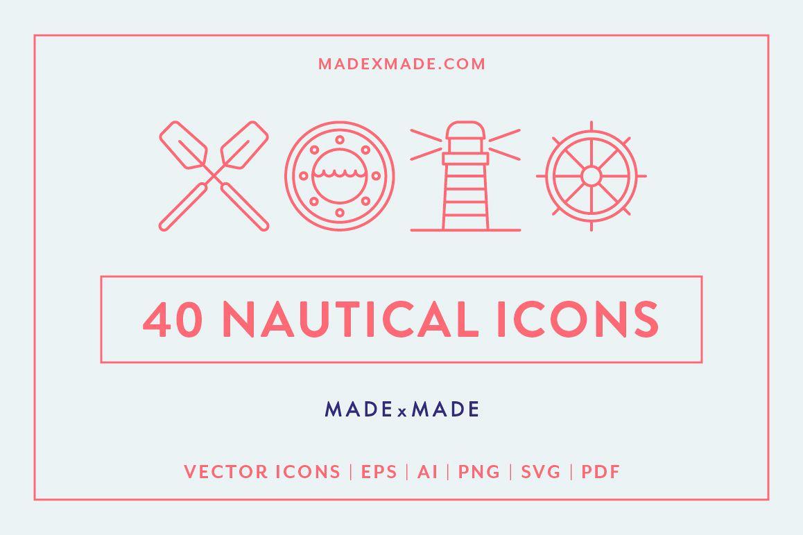 Line Icons - Nautical example image 1