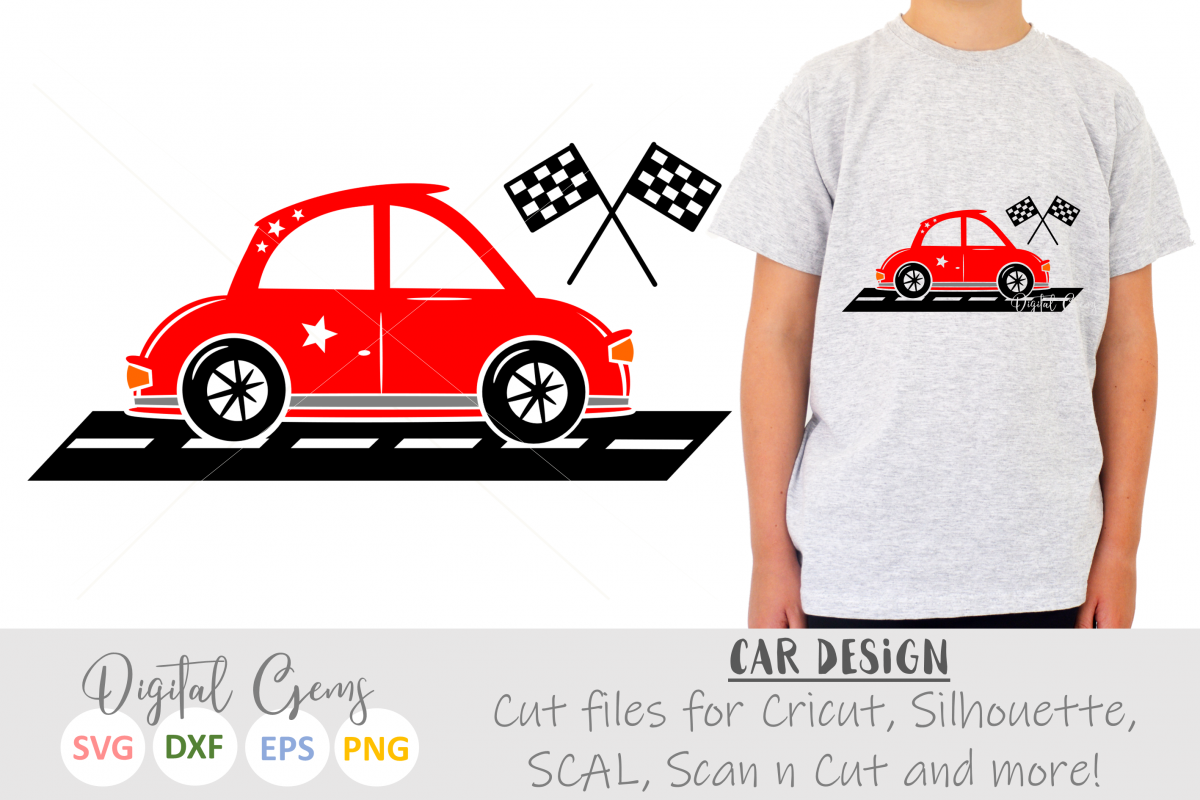 Race Car SVG / DXF / EPS / PNG files example image 1