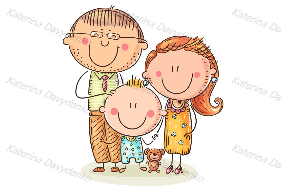 Happy family with one child example image 1
