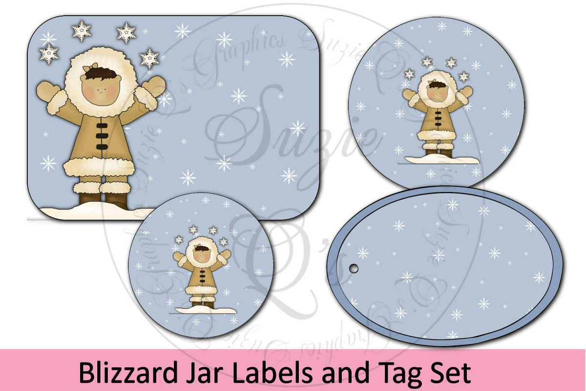 Blizzard Jar Labels and Tag example image 1