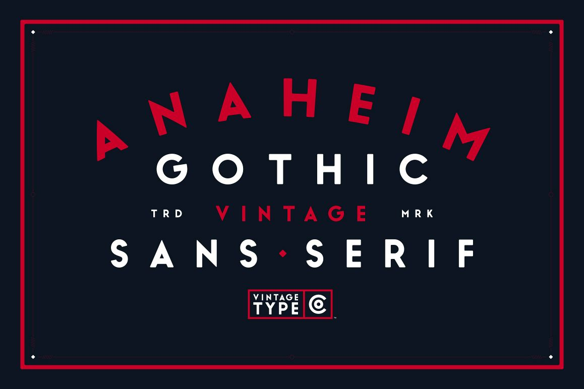 Anaheim Gothic Sans example image 1