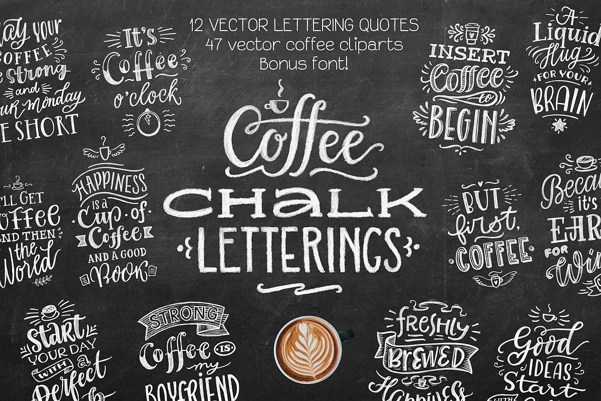 Coffee Chalk Letterings example image 1