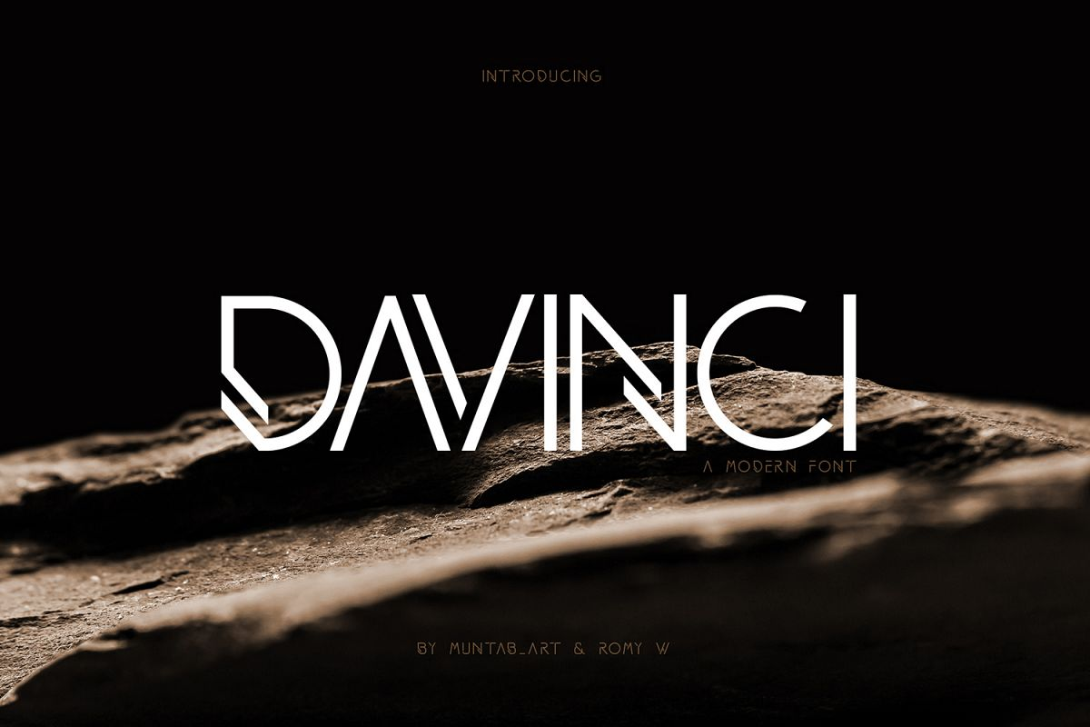DAVINCI FONTS   MODERN SANS example image 1