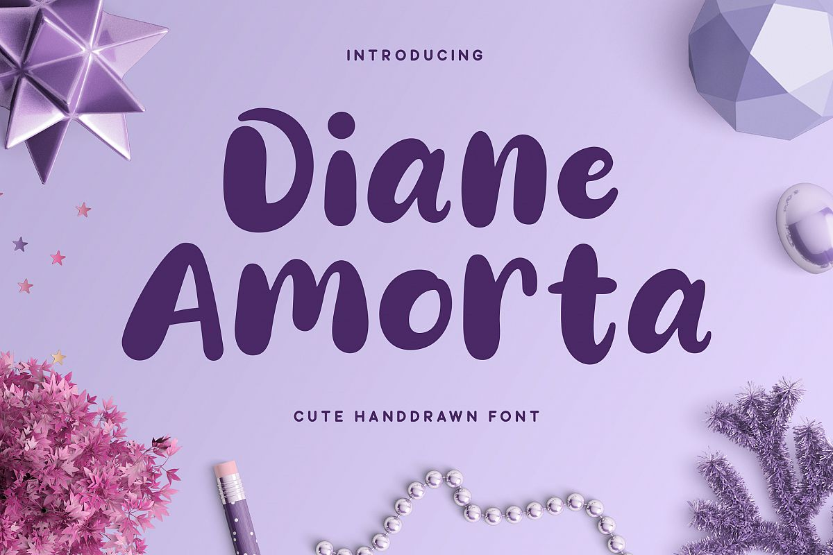 Diane Amorta - Cute Font example image 1