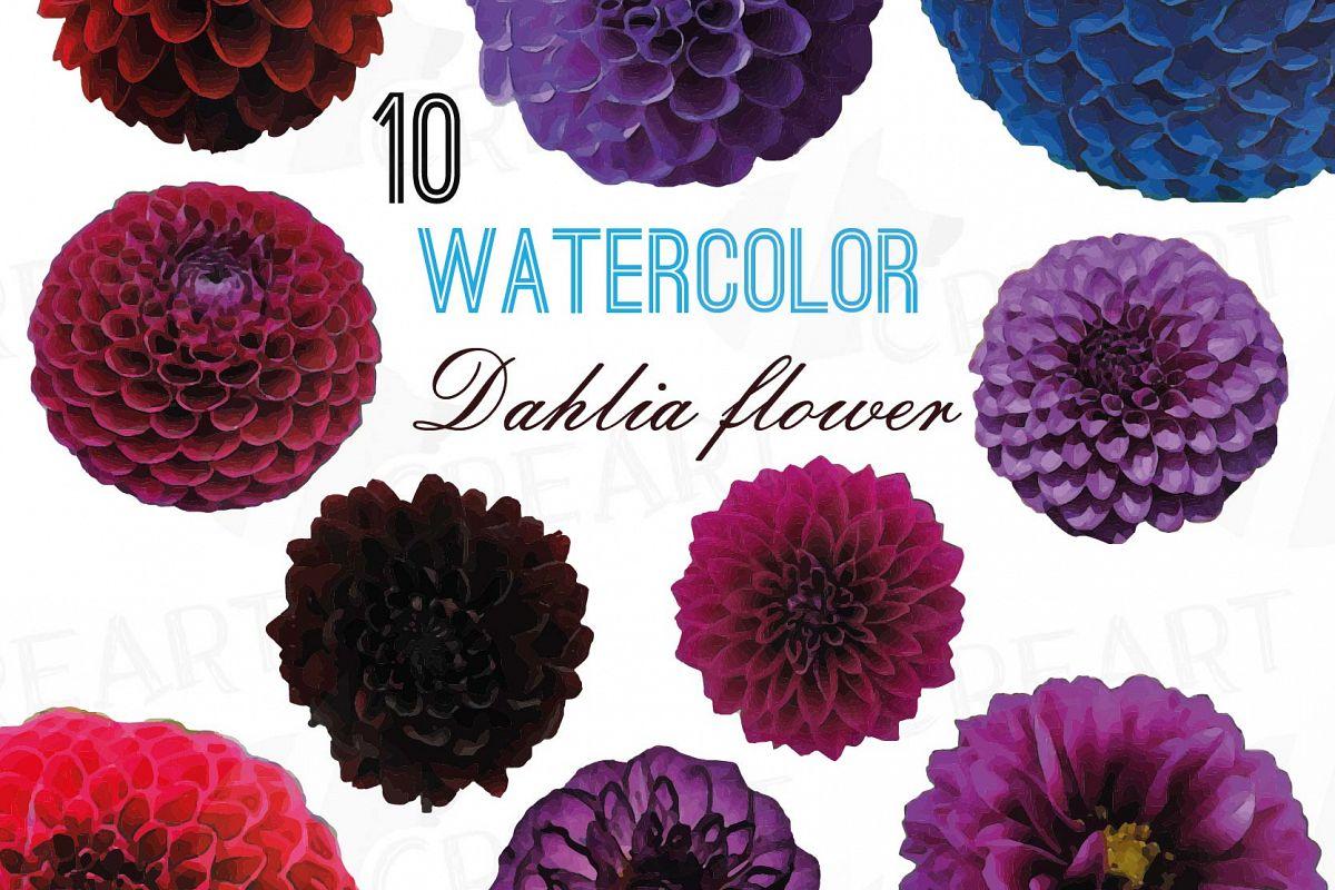 Watercolor dahlia flower clip art pack design bundles watercolor dahlia flower clip art pack watercolor purple dahlia red dahlia flowers png izmirmasajfo