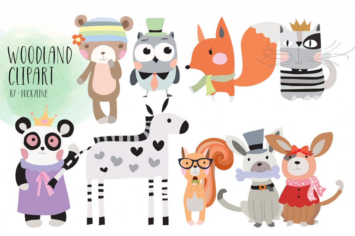 Woodland Clipart Animals clipart example image 1