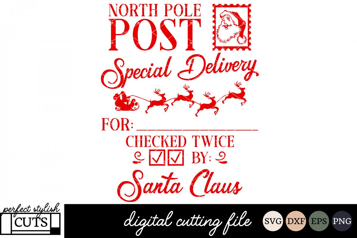 Christmas Svgs Free.Santa Sack Svg Christmas Svg North Pole Post Svg File