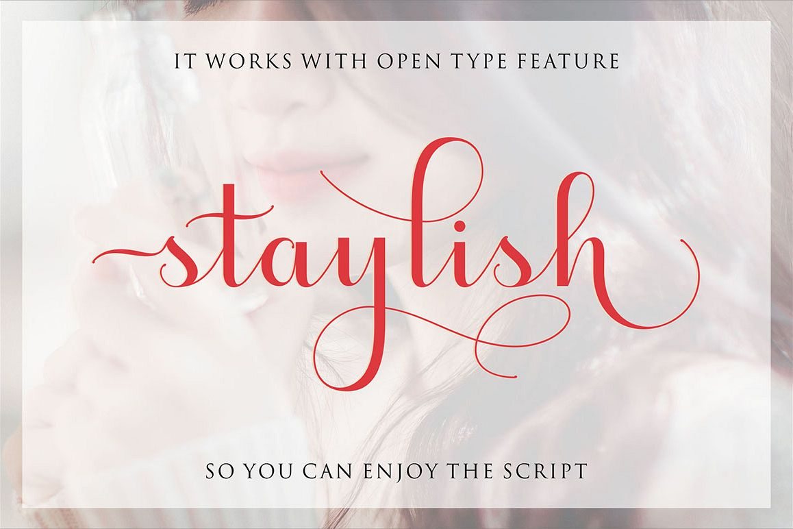 Staylish Script Upright example image 1