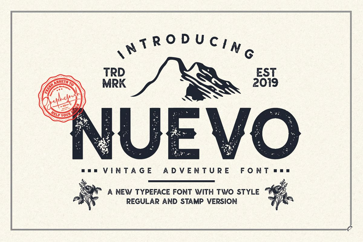 Nuevo - Vintage Adventure Font example image 1