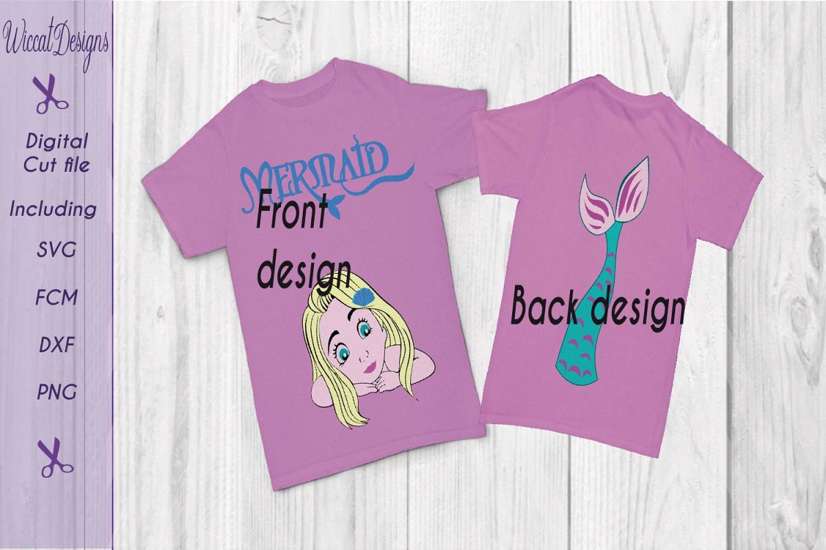 Mermaid svg, mermaid shirt svg, tail svg, girls svg,  example image 1