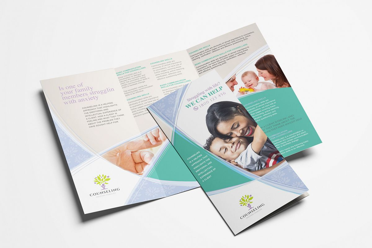 Counselling Service Tri-Fold Brochure Template example image 1