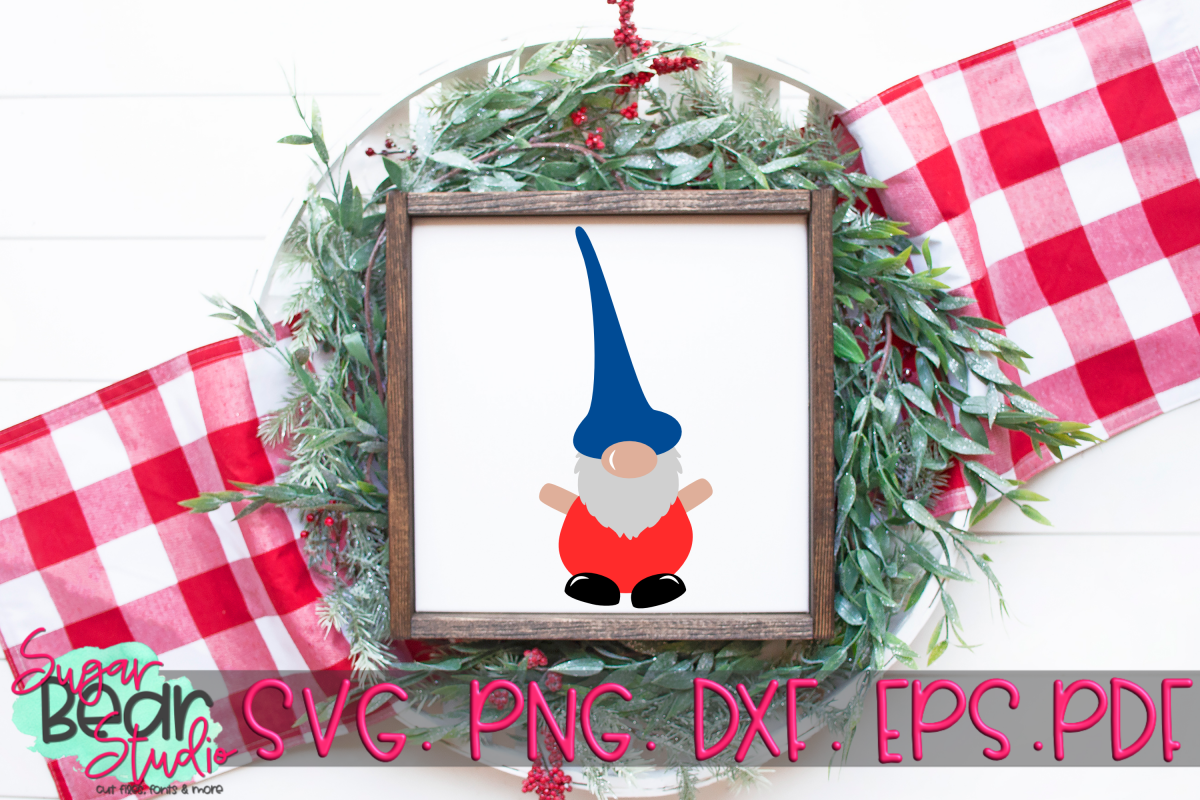 Tall Hat Gnome - A Gnome SVG example image 1