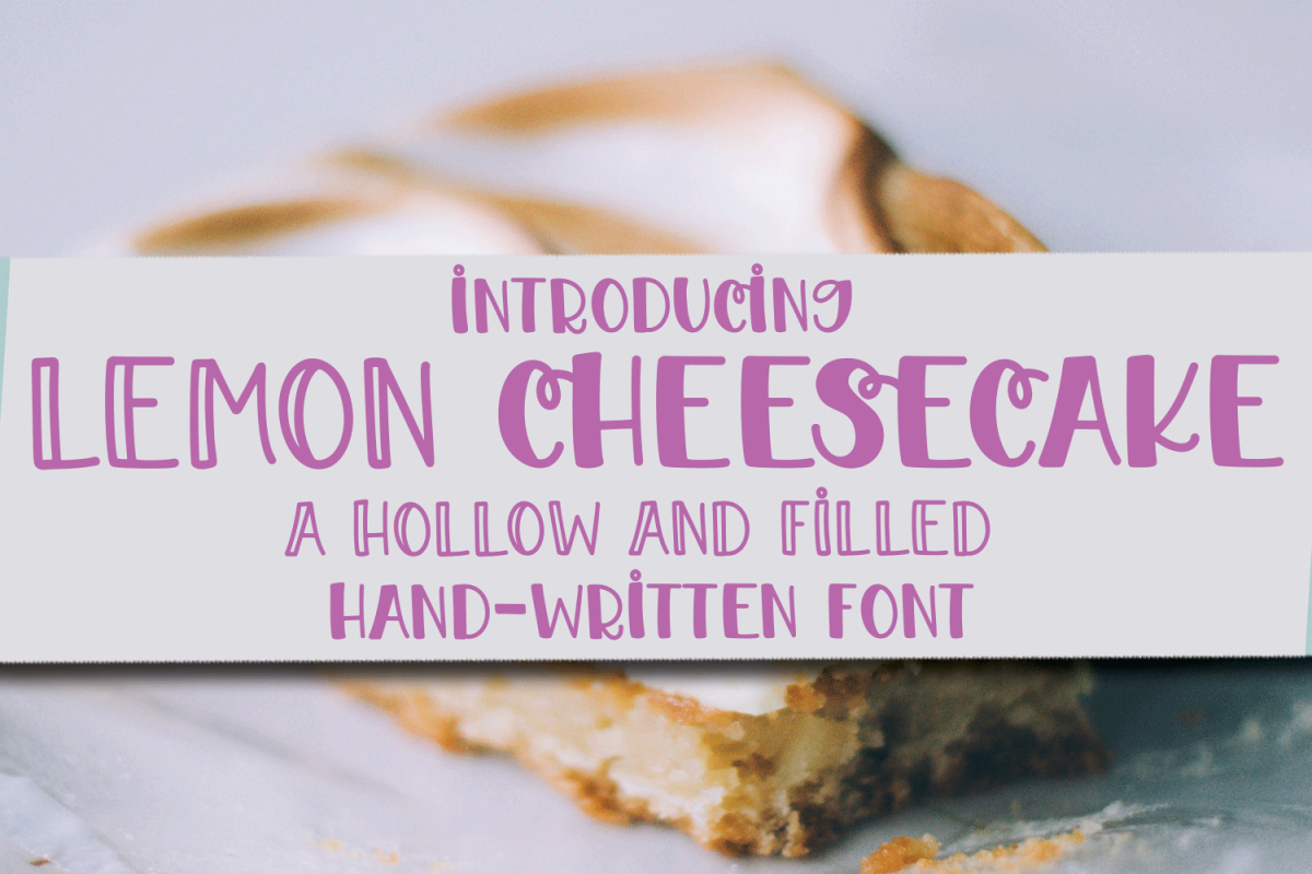 Lemon Cheesecake - A Hollow and Filled Hand-Written Font example image 1