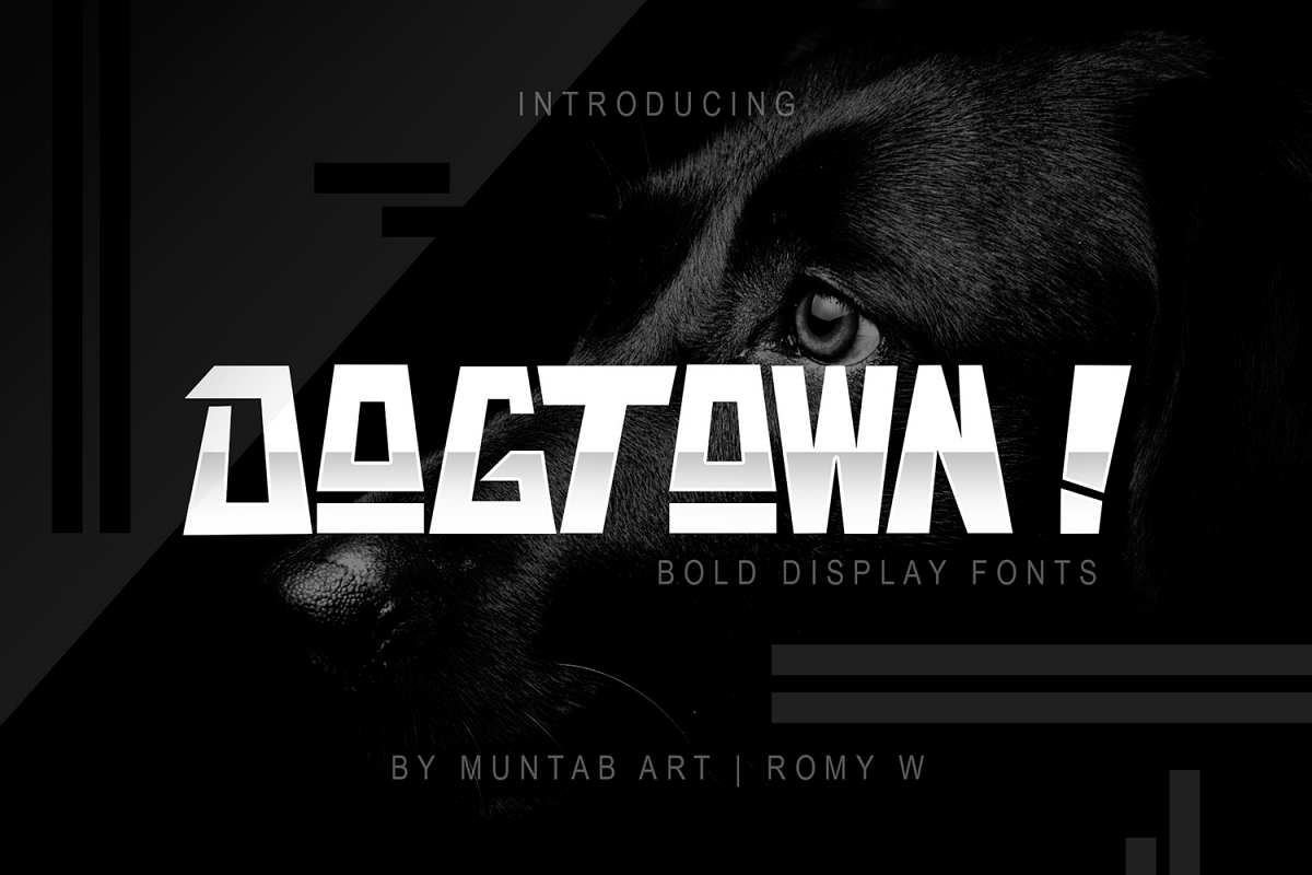 DOGTOWN ! Font | Ungeometric example image 1