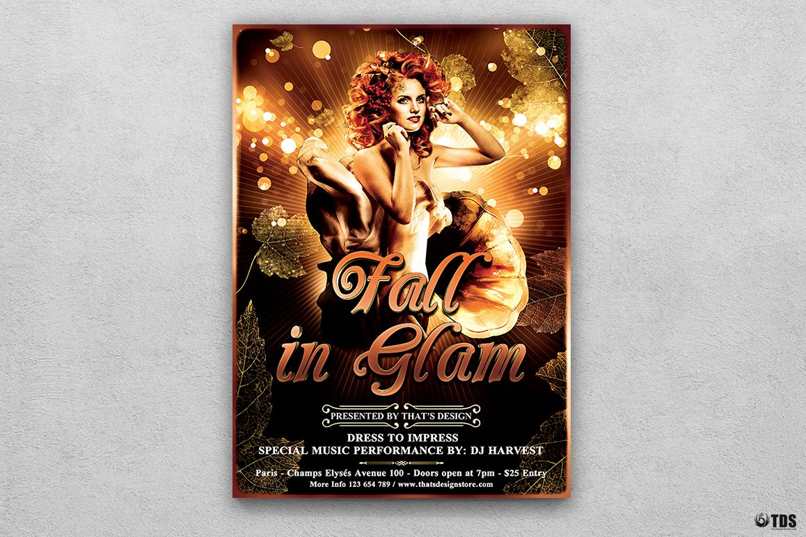 Fall in Glam Flyer Template V2 example image 1